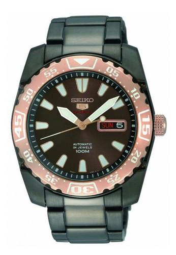 Seiko black Jam Tangan Pria Seiko 5 Original Garansi Resmi Strap Stainless Steel Black Gold SRP172 SRP172K1 C75FAACC6798FFGS_1
