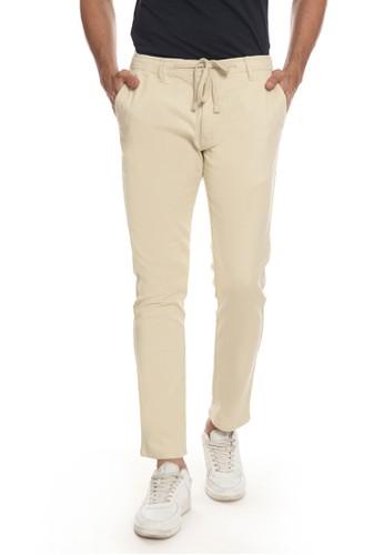 Men's Top beige HULL - BEIGE Pants 4F5AEAA499A489GS_1