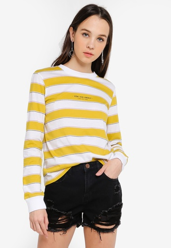 Cotton On yellow Tbar Tammy Chopped Graphic Long Sleeve Tee 50829AA6564A6FGS_1