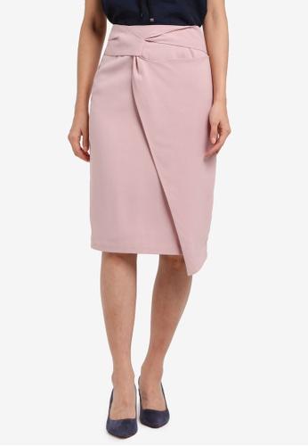 ZALORA pink Twist Detail Skirt 3B535AA2547152GS_1