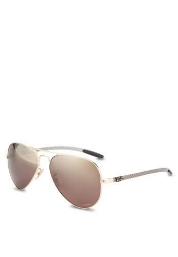 Ray-Ban gold RB8317CH Chromance Sunglasses RA896GL06GQZMY_1