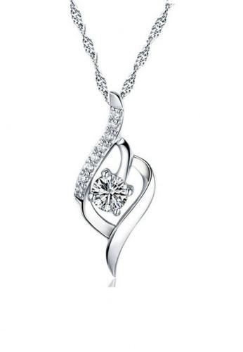 Vivere Rosse silver Vivere Rosse Silver Flourish Necklace VI014AC79VPOMY_1