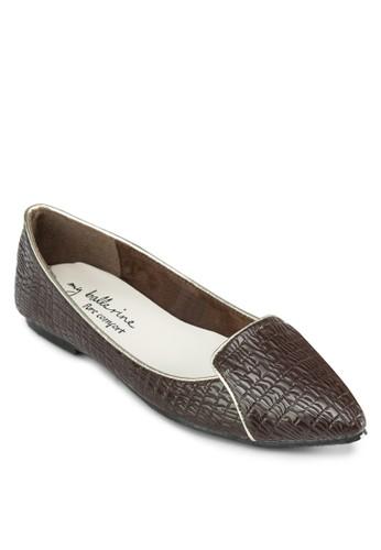 Stellesprit分店a 尖頭暗紋樂福鞋, 女鞋, 鞋