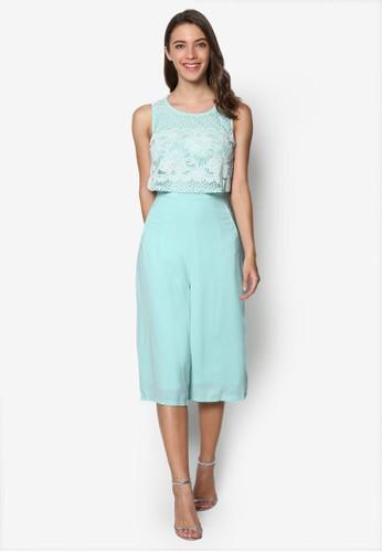 Sleeveless Laesprit outlet hkyered Jumpsuit, 韓系時尚, 服飾