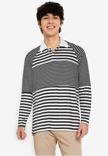 ZALORA BASICS multi Panelled Stripes Polo Shirt ED964AAF9B1F44GS_1