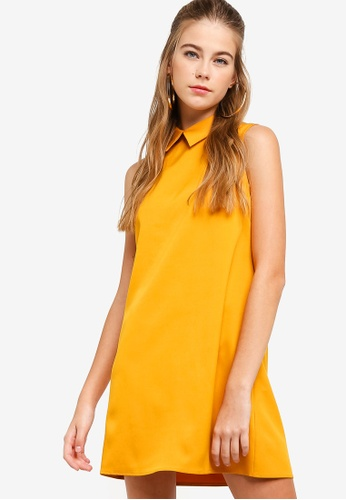 Something Borrowed yellow Shift Collared Dress D1346AA518699AGS_1