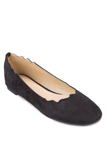 造型鞋口平底鞋, 女鞋, zalora 手錶鞋