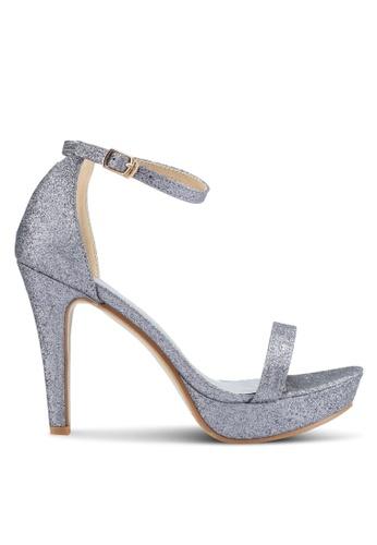Mimosa 灰色 閃亮繞踝高跟鞋 FA0B3SHF8E19ACGS_1