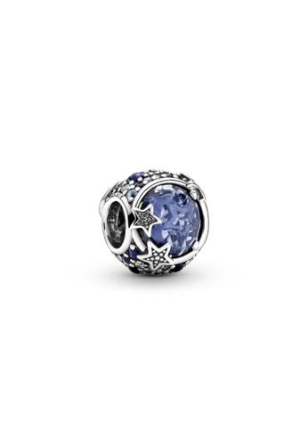 Pandora silver Pandora Celestial Blue Sparkling Stars Charm 08B2FAC36D6758GS_1