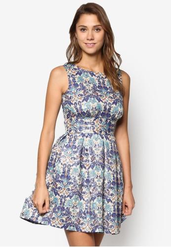花卉瓷磚鏤空洋裝, 服飾esprit cn, 洋裝