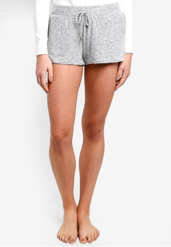 6IXTY8IGHT grey Supersoft Brushed Jersey Lounge Shorts ADB40AA00E3EFAGS_1