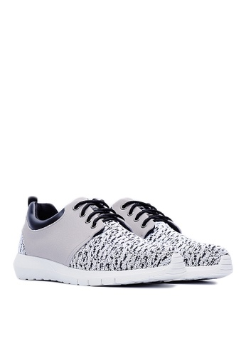 Life8 white Elastic Knit Sport Shoes With Deodorant Footbed-09380-White LI283SH58GQJSG_1