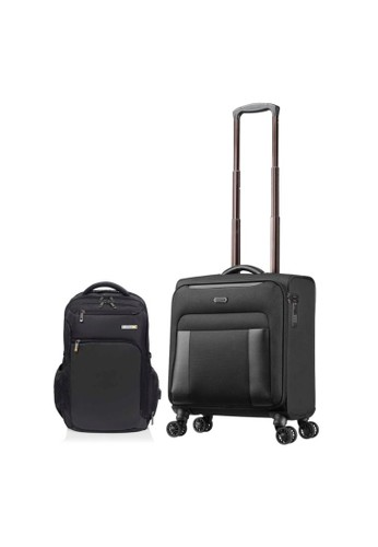 American Tourister black American Tourister Bass Rolling Tote – Black AA9FFAC5573748GS_1
