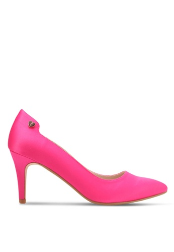 Velvet pink Heel with Embellishment 07573SH00B2442GS_1