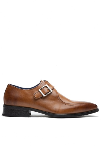 Twenty Eight Shoes 褐色 真皮英式孟克鞋MC1229-2 E6E9FSH7FFEAF7GS_1