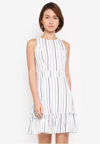 ZALORA white Ruffle Hem Dress 0A4A5AAA39E5ECGS_1