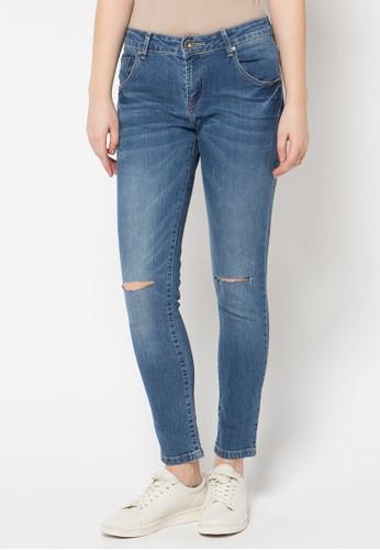 DocDenim blue Ladies Jeans Nikita Ripped Super Slim Fit DO336AA98LQZID_1