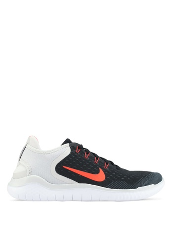 Nike black and grey and white Nike Free RN 2018 Running Shoes  73371SH811416FGS1