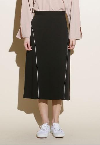 韓系時尚開衩滾邊及膝短裙, 服飾, esprit門市裙子