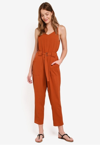 Cotton On orange Woven Strappy Jackie Jumpsuit AAB85AAE432398GS_1
