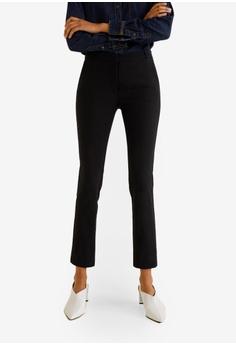 c17fc1e13a15 Mango black Crop Slim-Fit Trousers 084ECAA05662D2GS 1