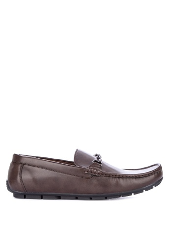Italianos brown Santiago Loafers C1E65SHA5F4A34GS_1