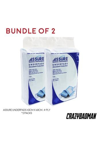 ASSURE [Bundle of 2] ASSURE Underpads 43cm x 60cm, 4-Ply (20pcs/pack) 36598ES9B33C9AGS_1