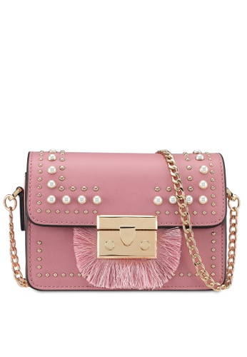 TOPSHOP pink Rosie Pearl Fringe Crossbody Bag 569B5AC0888618GS_1
