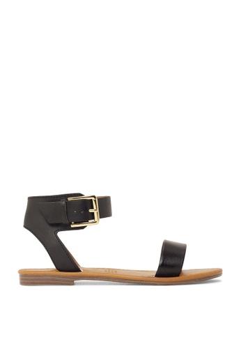 ROC Boots Australia black Enza Black/Natural Sandal RO289SH43BQASG_1