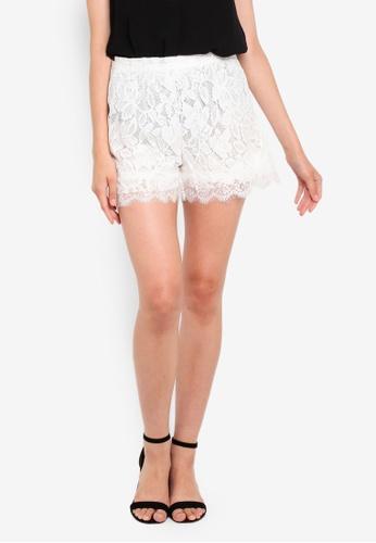 OVS 白色 蕾絲 短褲 AA900AA9E26CF8GS_1