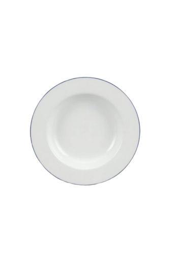Minh Long I white Blue Line: Porcelain Deep Soup Plate (23cm) 90F77HLE3BC7B2GS_1