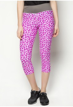 Print Legging Capri Pants