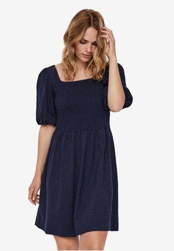 Vero Moda navy Smock Mini Dress 6BEC8AA95683FFGS_1