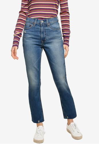 Gap blue High Rise Distressed Cigarette Jeans EC246AA68BE347GS_1