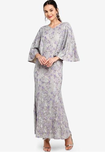 Zalia grey Cape Mermaid Dress BB9C5AAD532163GS_1
