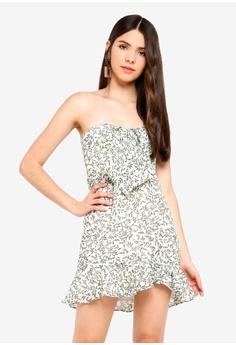 6e0a27a4333 INDIKAH white Tie Front Bustier Ruffle Dress 019C4AA12A99E8GS 1