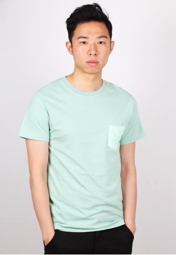 Moley green Tribal Floral Print Pocket T-Shirt MO329AA53JXASG_1