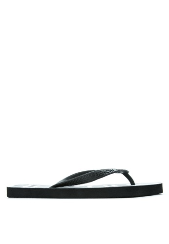 BENCH black Printed Rubber Slippers BE550SH95MBSPH_1