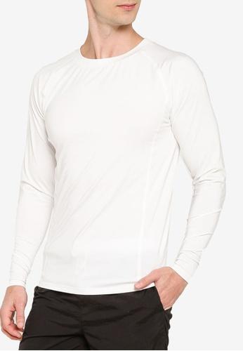 ZALORA ACTIVE 白色 長袖Muscle T-襯衫 C7685AADB139D6GS_1