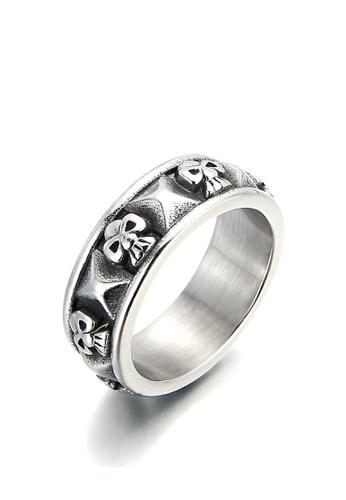 HAPPY FRIDAYS Skull Titanium Steel Ring KL101262 75B87AC669CA6CGS_1