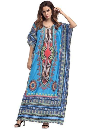 Kings Collection blue African Ethnic Print Beach Long Dress (KCCLSP2104) C731DAA1D7A7F6GS_1