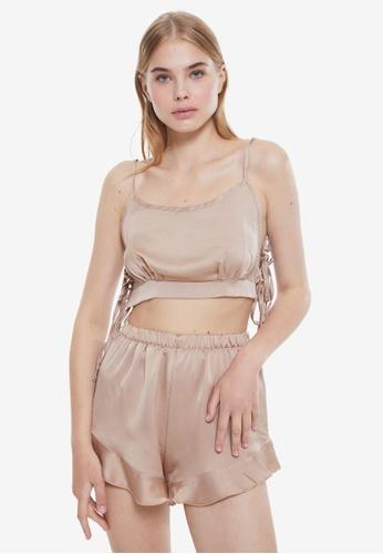 Trendyol 米褐色 Mink Pyjamas C7BD9AA41B8207GS_1
