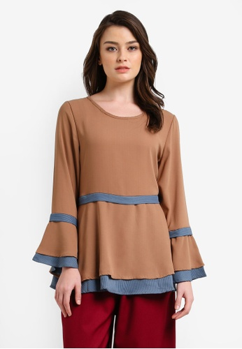 BYN brown Muslimah Blouse BY059AA0RVCAMY_1