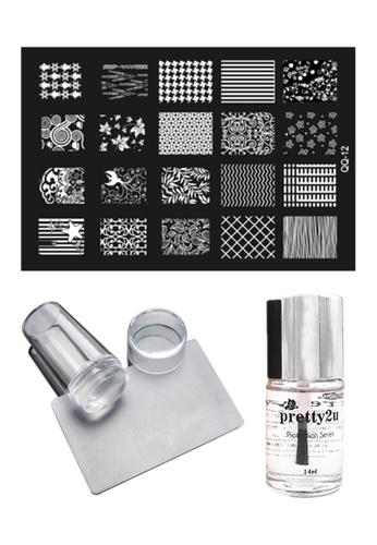 Pretty2u Nail Art Stamp Plate QQ12 Set PR716BE37KOWMY_1