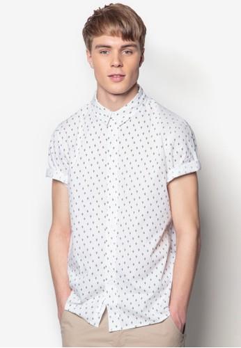 印花短袖襯衫, esprit旗艦店服飾, 印花襯衫