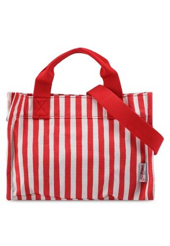 Cath Kidston red Candy Stripe The Little Sidekick Handbag 8E8CBACADCFD9AGS_1