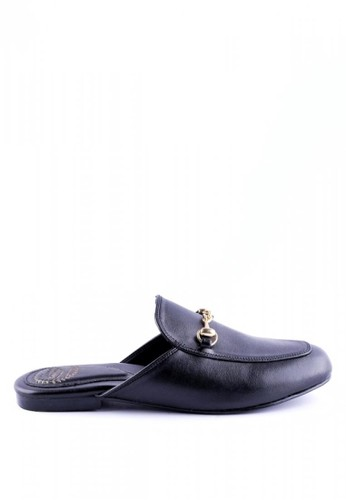 FairyBerry black Aubrey Mule Sandals FA692SH01GWSID_1