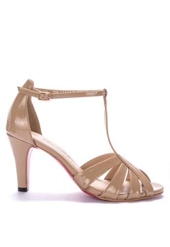 CARMELLETES beige Strappy Patent Heels High Heels D5DCFSHFA9D2BAGS_1