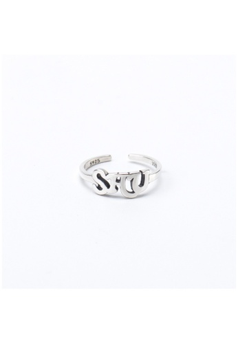 A-Excellence silver Premium S925 Sliver Geometric Ring 70A64ACFB52AF5GS_1