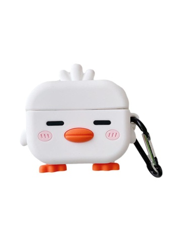 Kings Collection white Cute Little Chicken AirPods Case (UPKCAC2168) A4C11ACF0E8D98GS_1